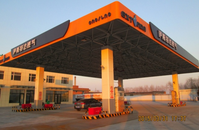 120W LED防爆灯应用在伊斯特达燃气加油站