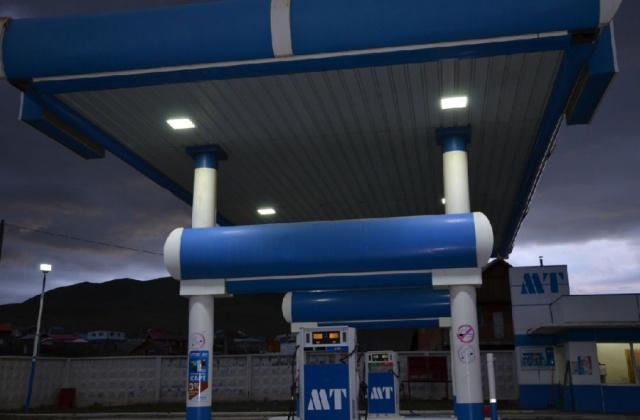 中电南方LED防爆灯具应用在外蒙古加油站