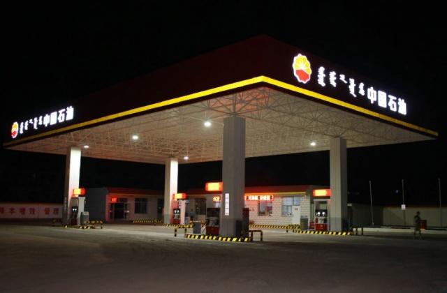中电南方LED防爆灯具应用在内蒙古加油站